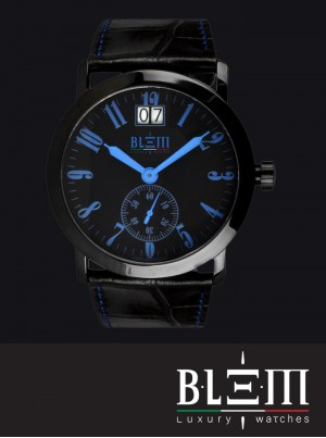 Orologio al quarzo Blem Luxury Watches M8058 Limited Edition PVD Blu