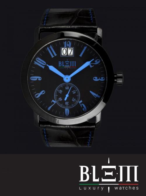 Orologio al quarzo Blem Luxury Watches M8058 Limited Edition PVD Blu