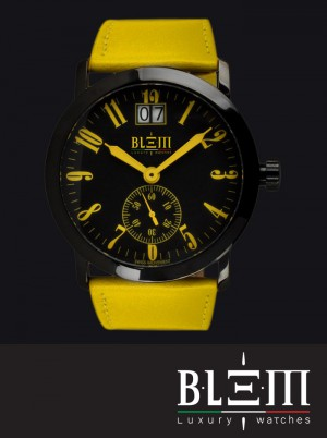 Orologio al quarzo Blem Luxury Watches M8058 Limited Edition PVD Giallo