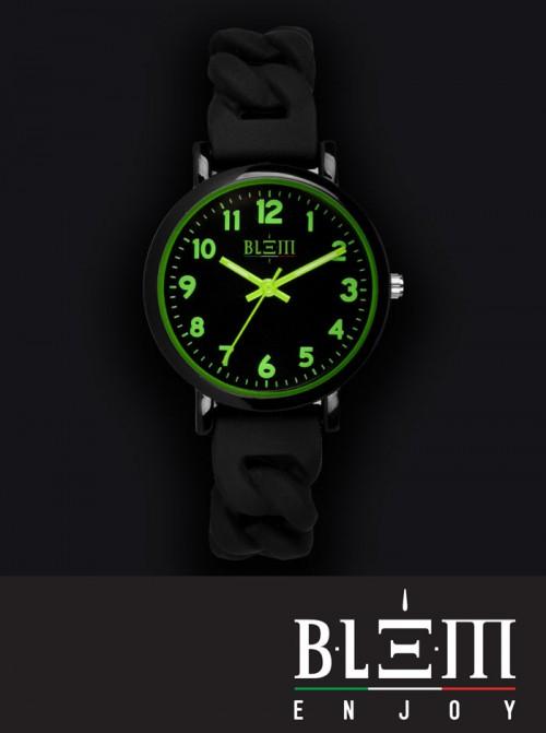 Orologio al Quarzo Donna Blem Enjoy Catena F2304 Nero e Verde