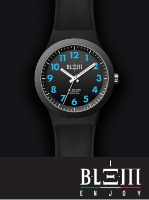 Orologio al Quarzo Uomo Blem Enjoy Vincente U3130 Nero e Azzurro