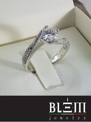 Anello Blem in Oro Bianco e Diamanti